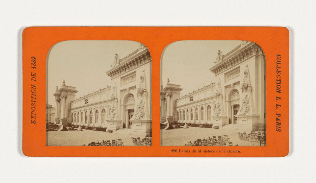 Universal Exposition, Paris. 120. Palace of the Ministry of War, French tissue stereograph