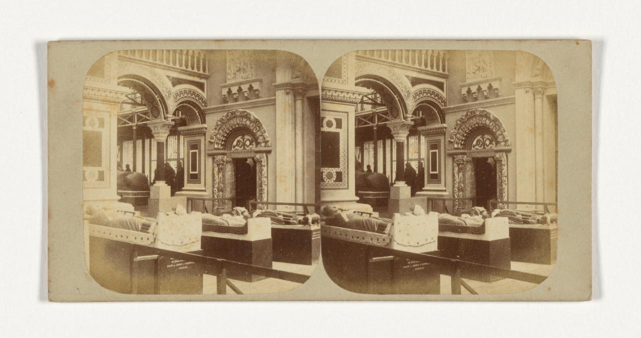 Crystal Palace, Sydenham, London. 12. The Byzantine Court. View of the interior towards the north, stereograph