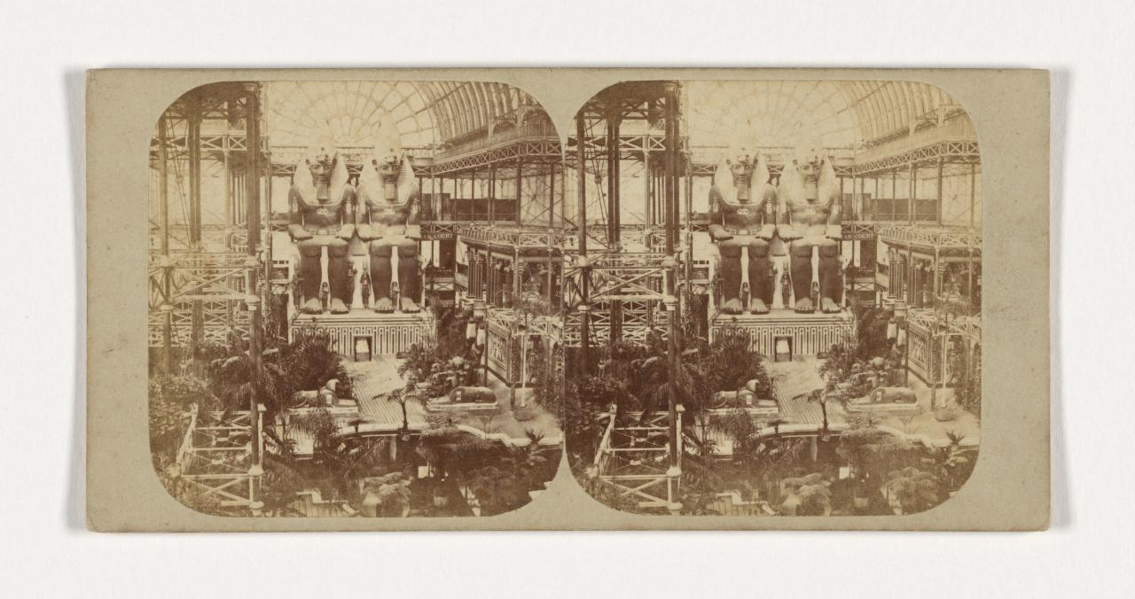 Crystal Palace, Sydenham, London. 10. The Colossal Egyptian Figures, stereograph