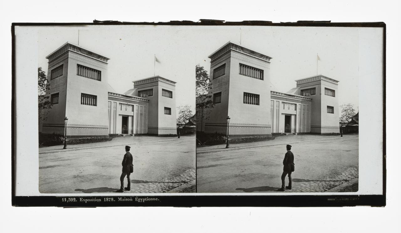 Universal Exposition, Paris. 11,592. Egyptian house, stereograph