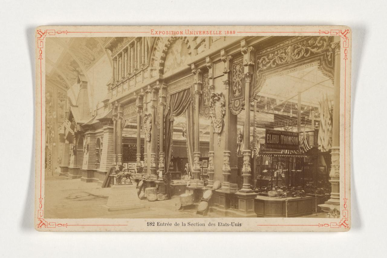 Universal Exposition, Paris. 182. Entrance of the United States section, cabinet print