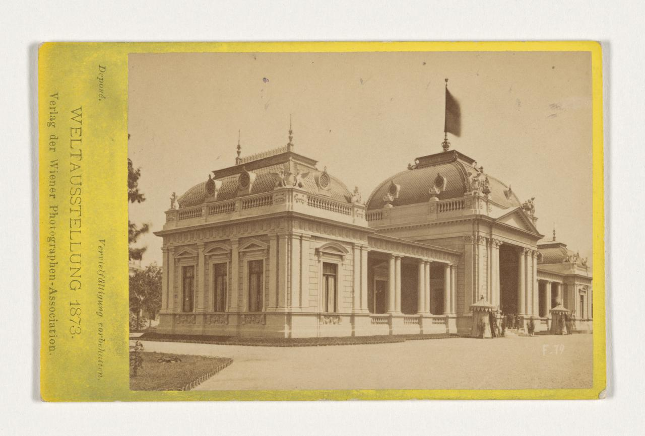 The Imperial Pavilion Carte De Visite Weltausstellung Wien F 79 Der Kaiserpavillon
