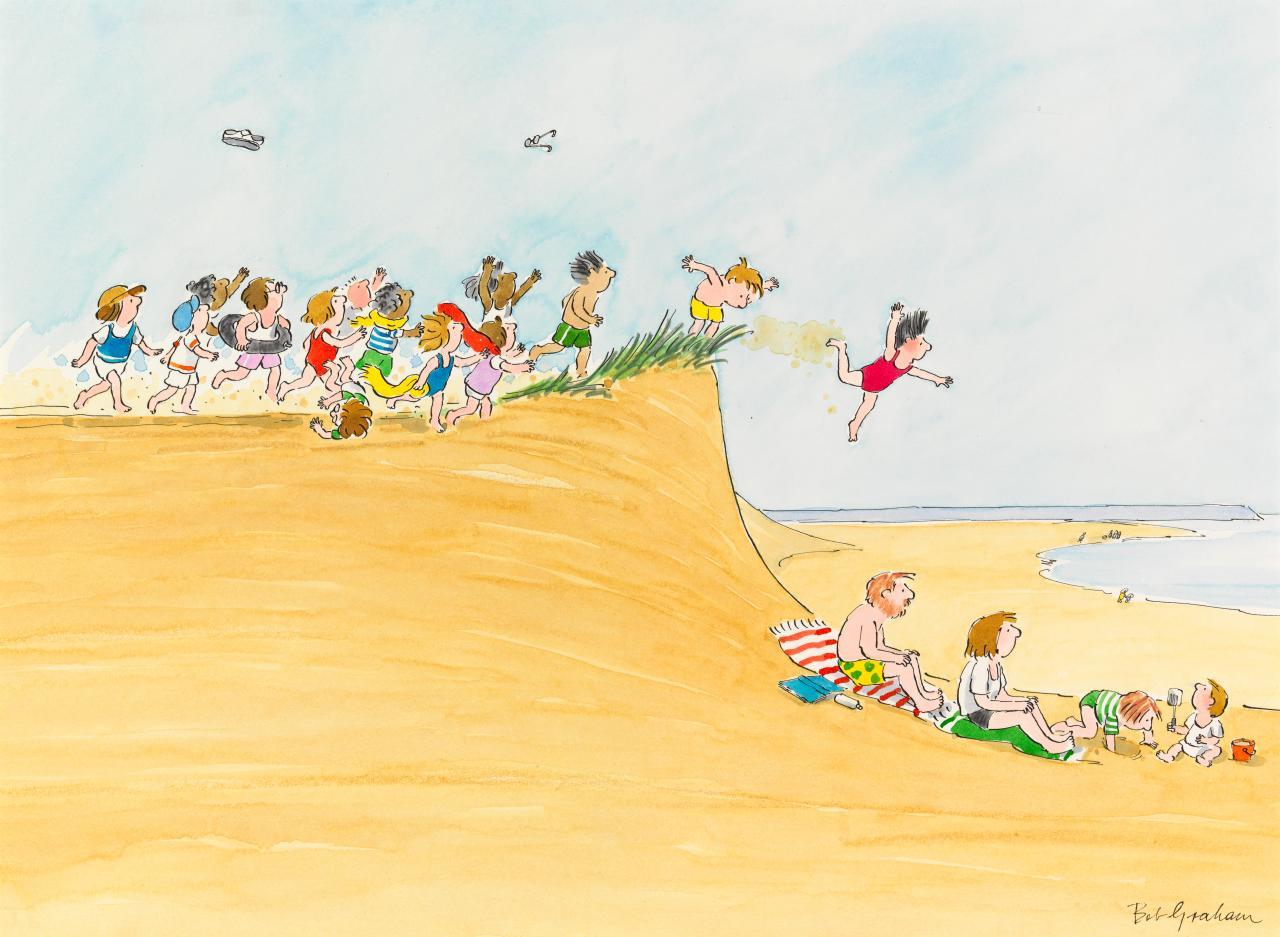 Greetings from sandy beach bob graham ngv view work greetings from sandy beach voltagebd Choice Image