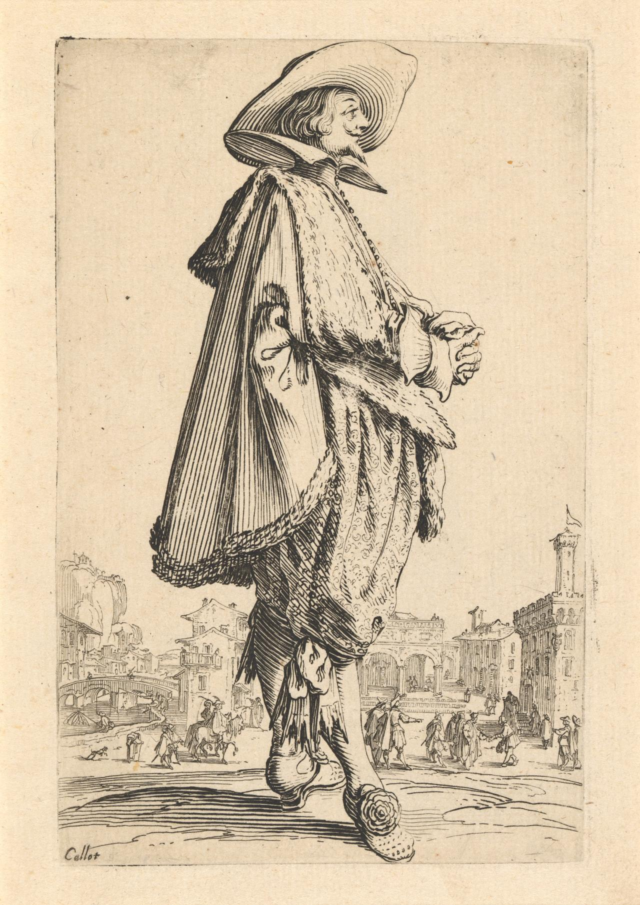 Nobleman with folded hands