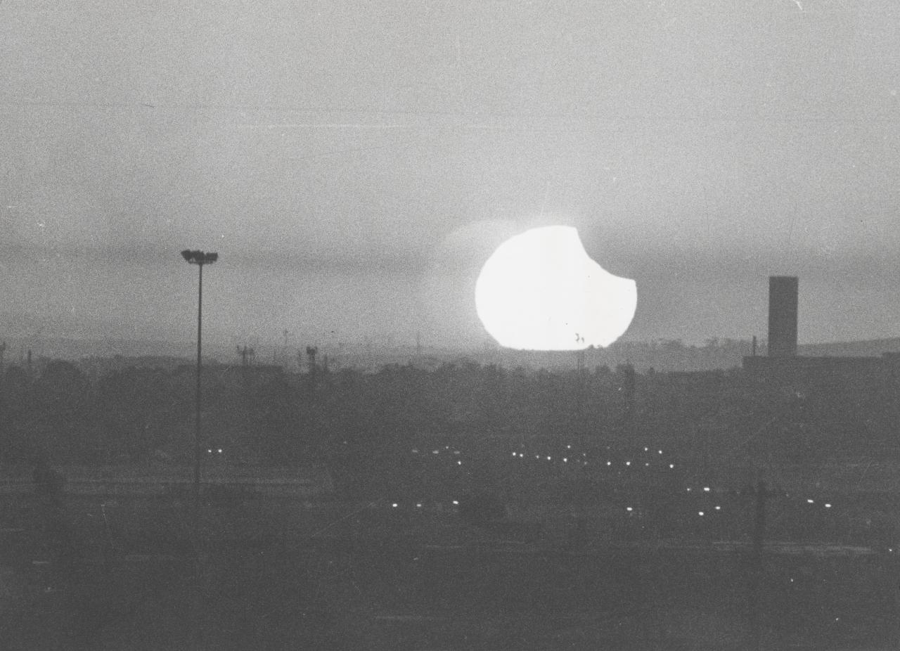 Smog and eclipse, Melbourne, 10th April, 1986