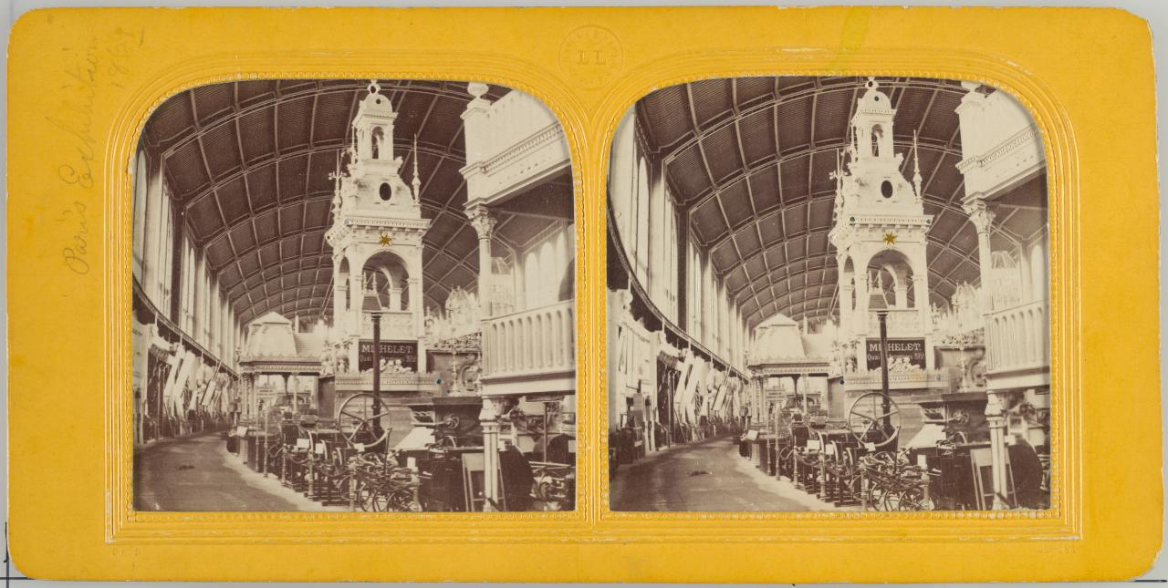 Interior view. Exposition Universelle, Paris, stereocard