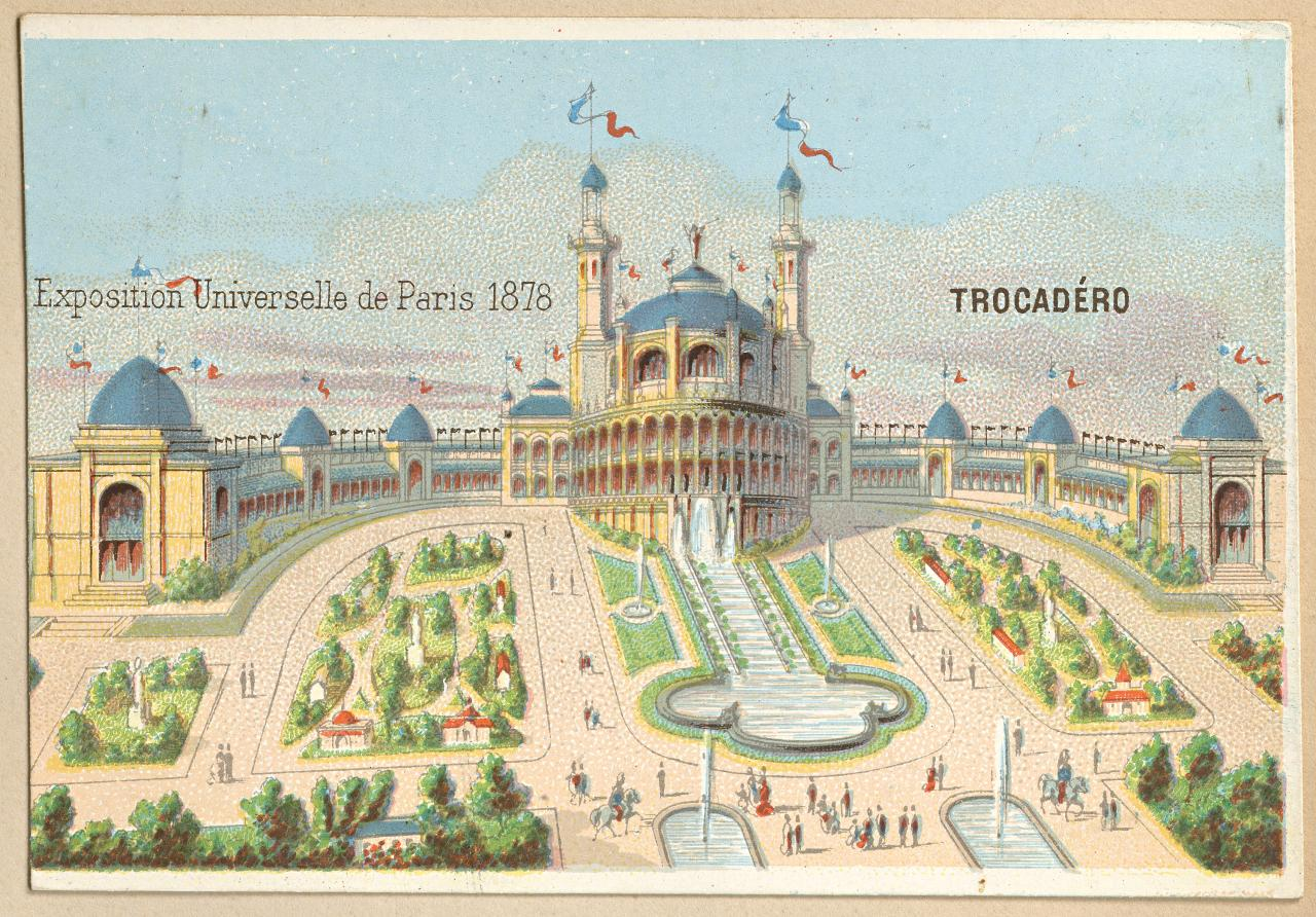 Universal Exposition, Paris. Trocadero Palace