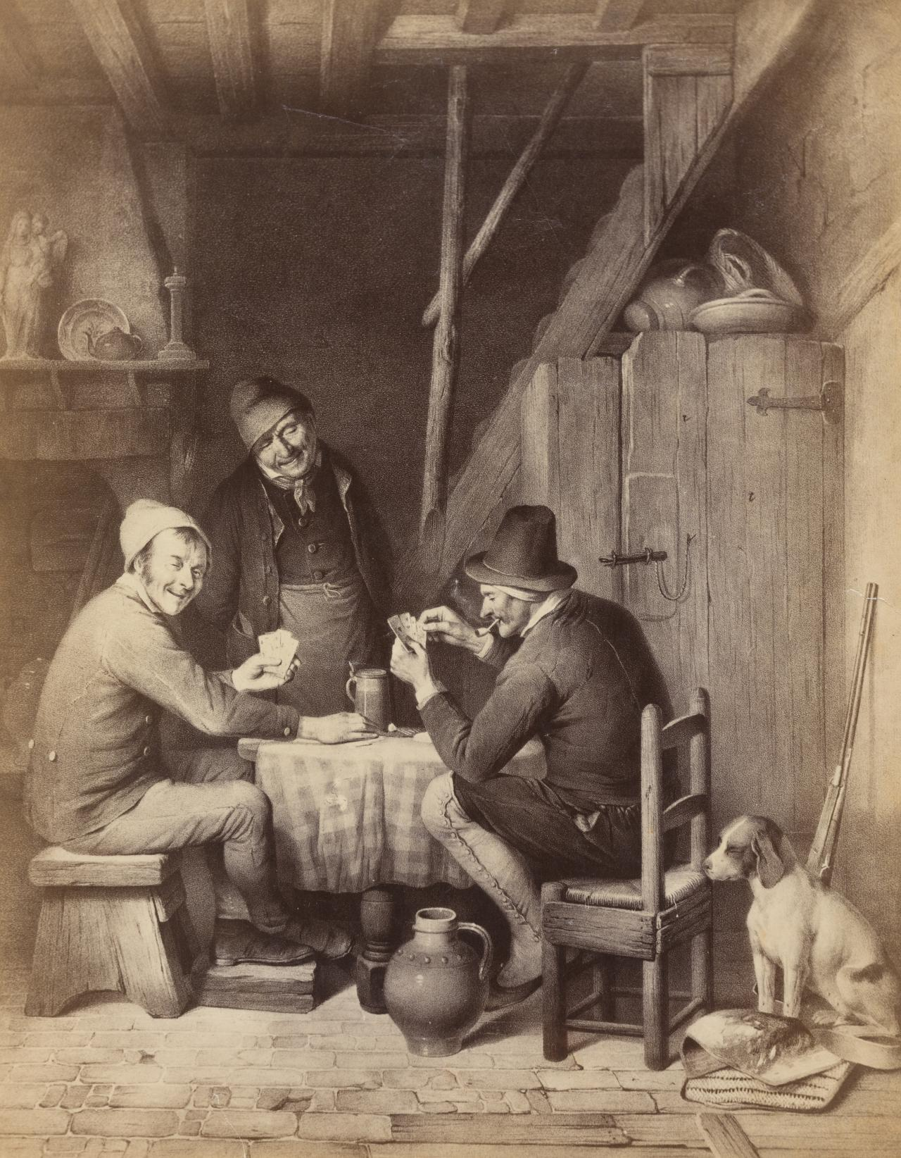 No title (Photograph after a painting of card players)