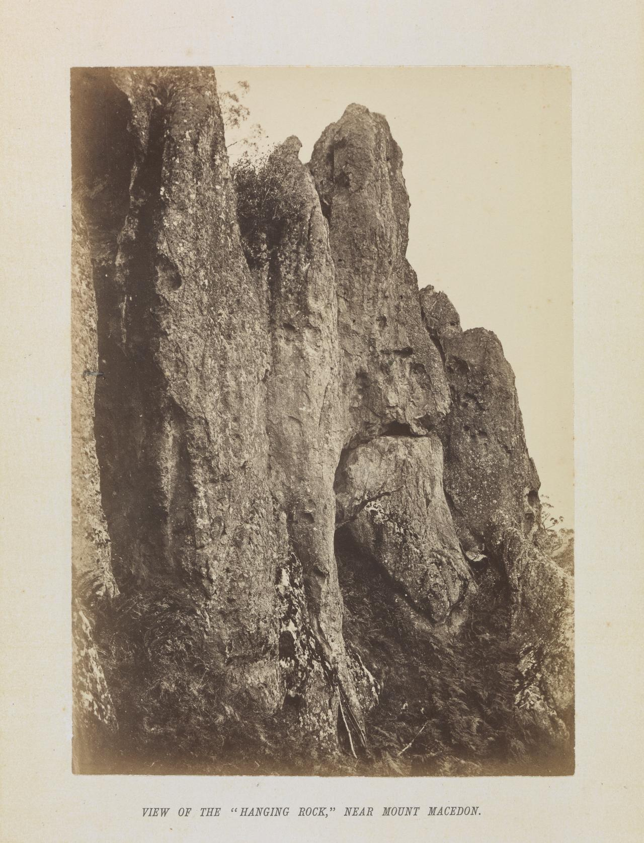 View of the Hanging Rock, near Mount Macedon