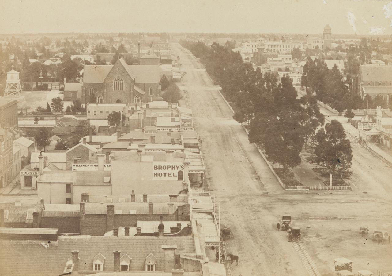View of Sturt Street, Ballarat, taken from the Town Hall tower
