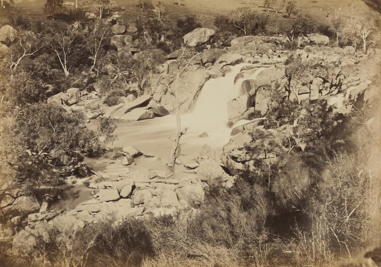 Waterfall scene on the Coliban River, near Elphinstone