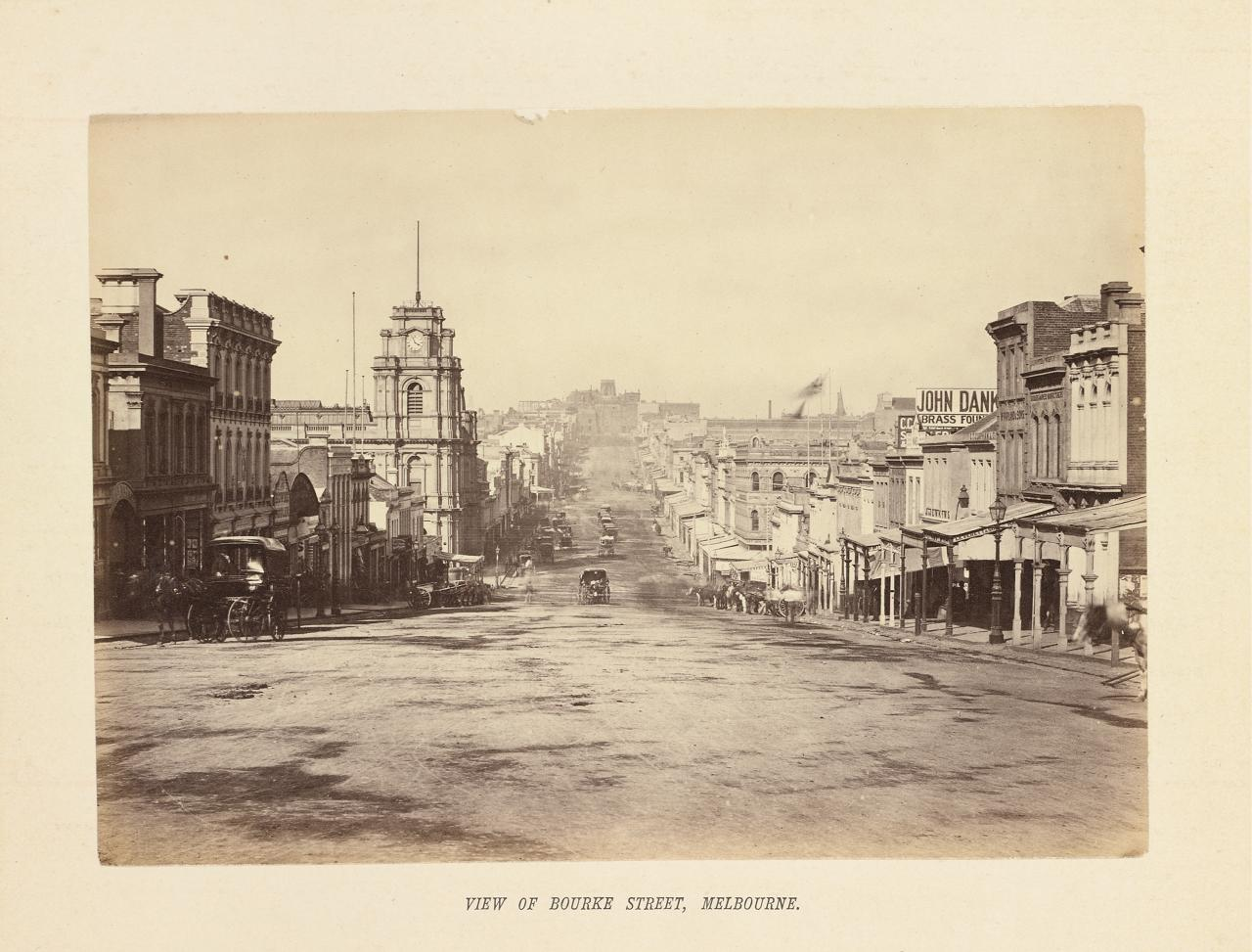 View of Bourke Street, Melbourne