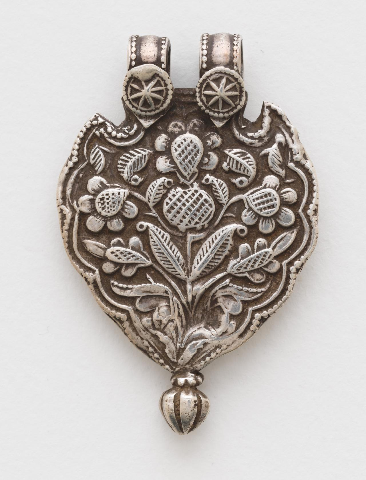 Pilgrimage and devotional pendant (Phul) with plant forms