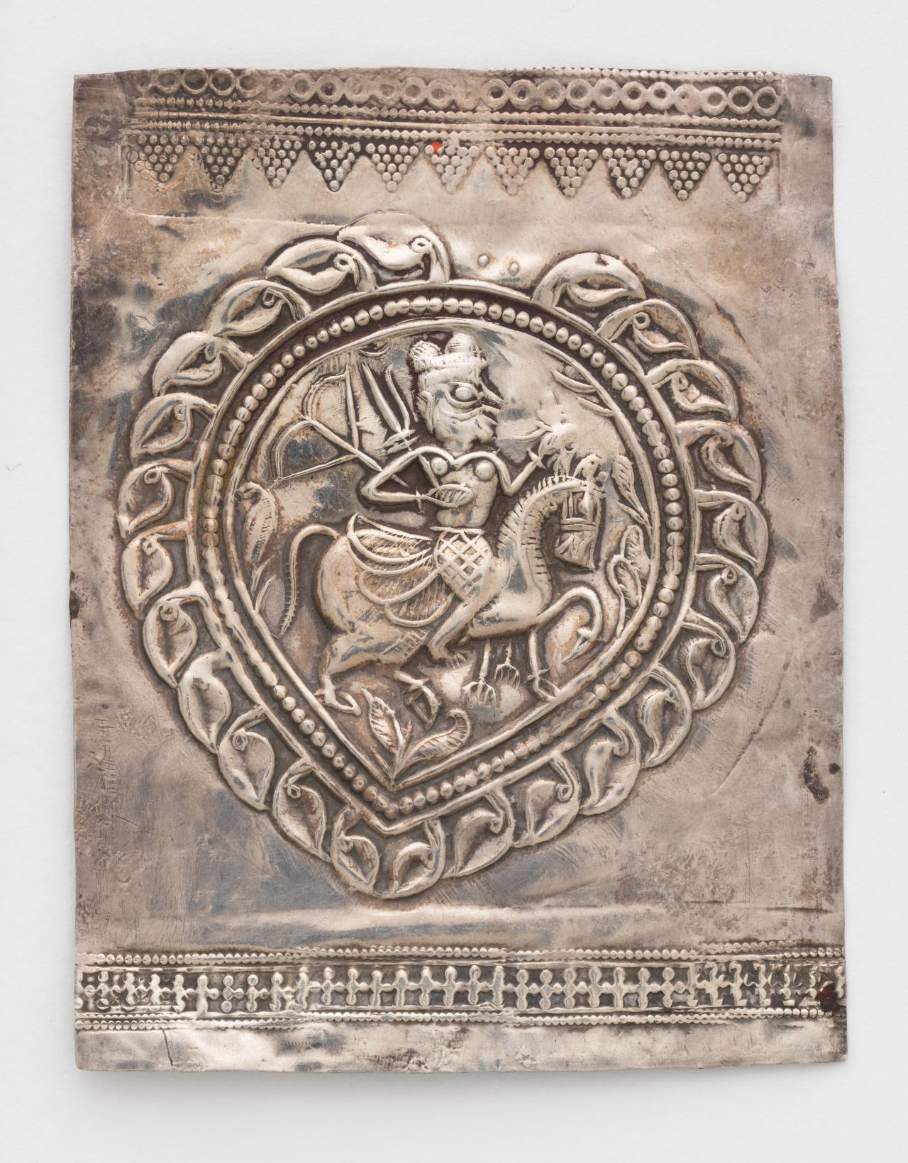Pilgrimage and devotional plaque (Phul) with folk hero