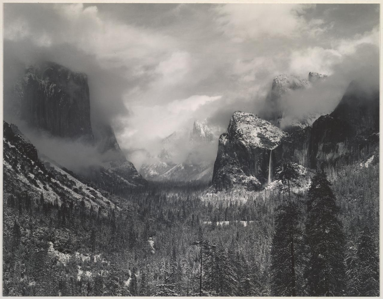 Clearing winter storm, Yosemite Park