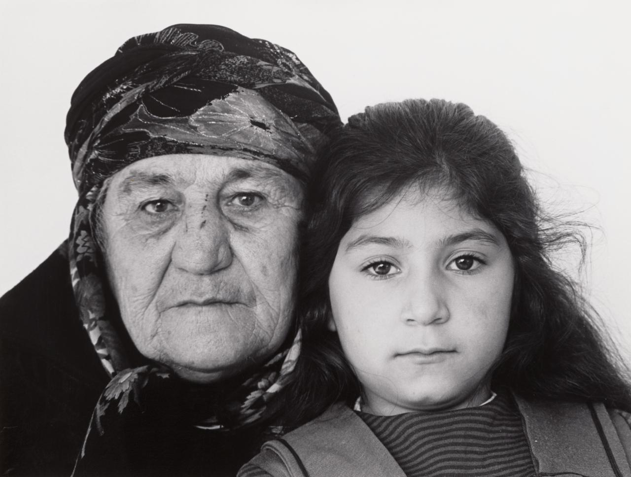 Zühre Yildirim from Turkey with grand-daughter Nurahan Gundogdu, born in Australia. De Carle Street, Brunswick