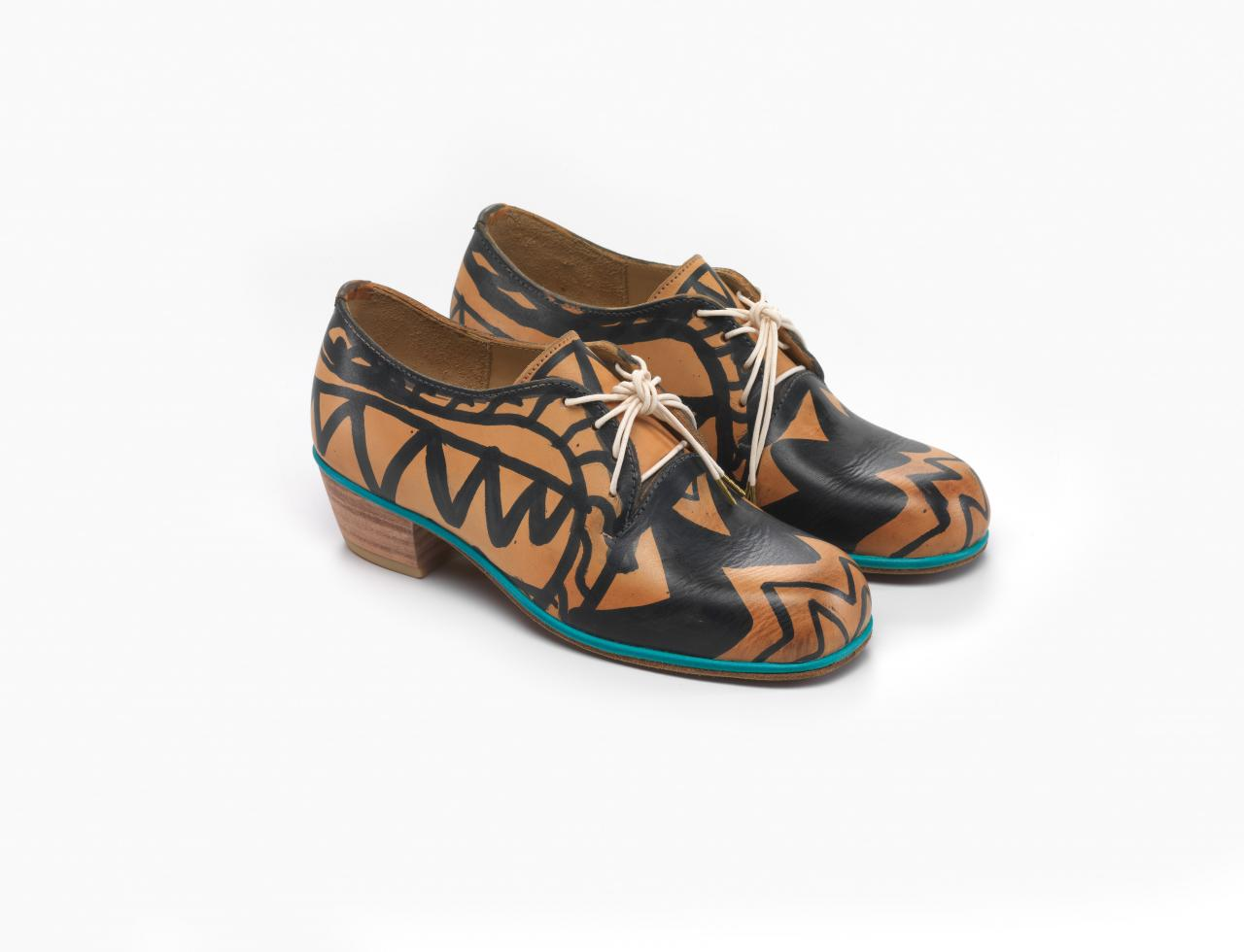 Painted derby shoes