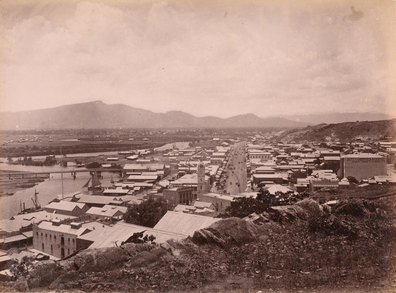 Flinders Street from Melton Hill