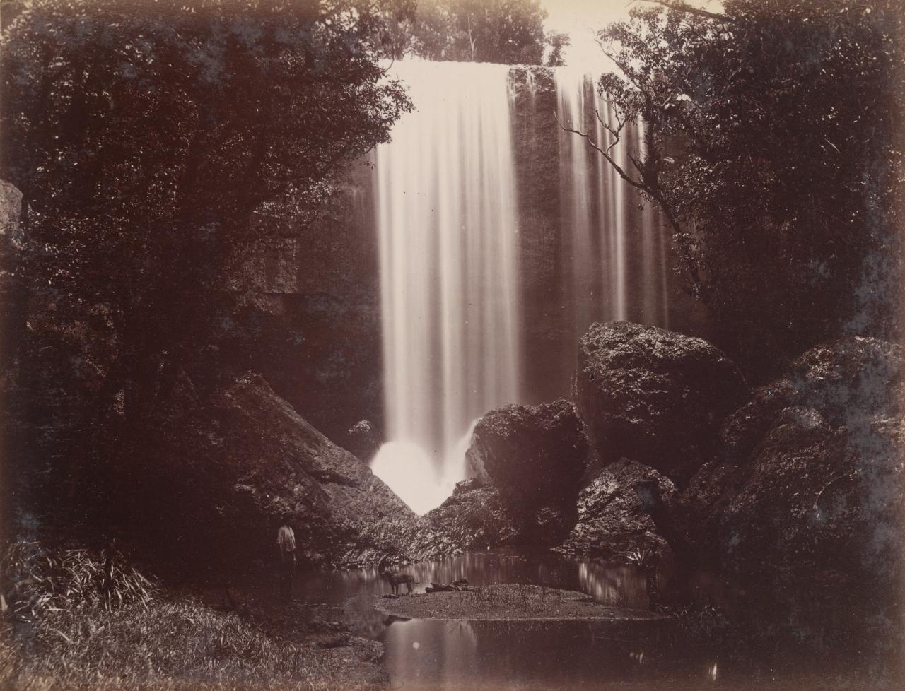 Fishers Creek Falls, lower right, north branch