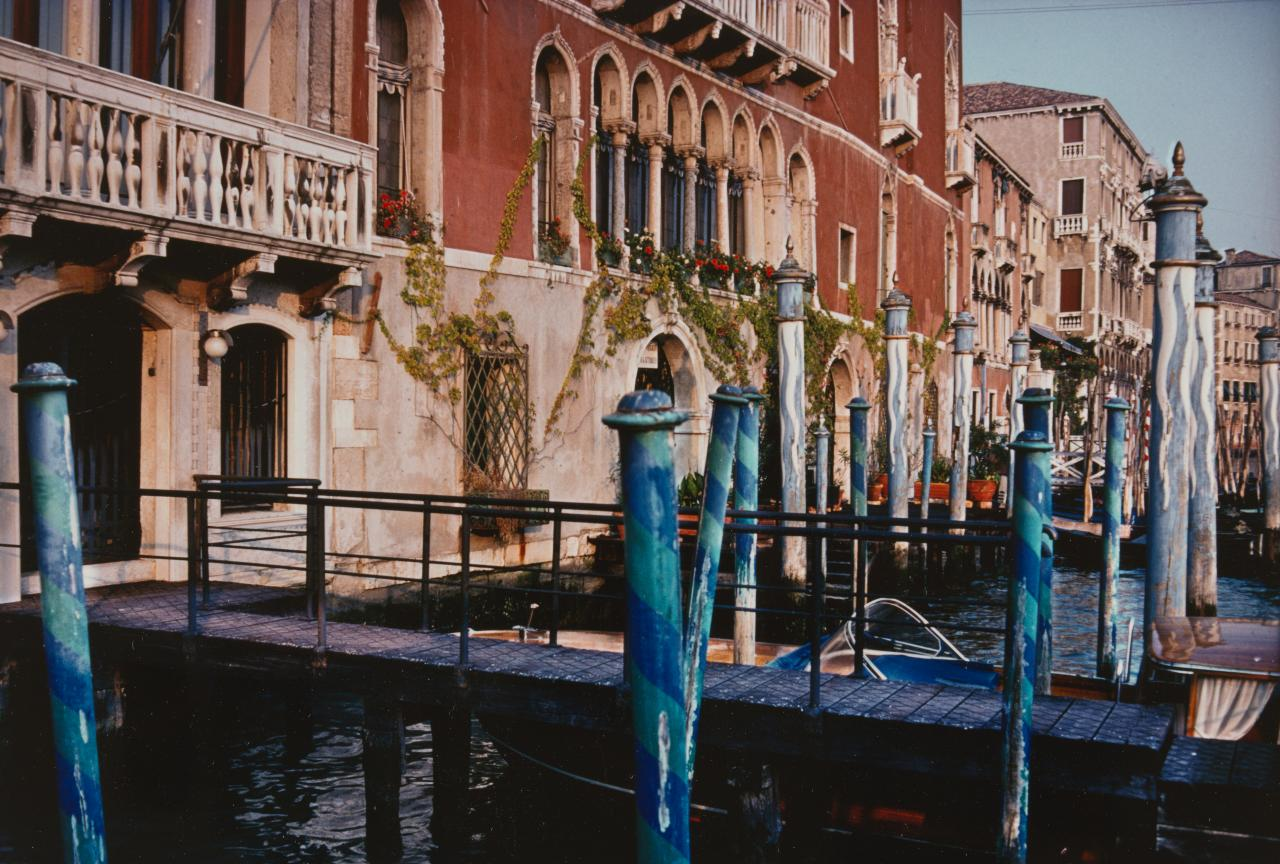 No title (Mooring poles, Grand Canal, September 1979)