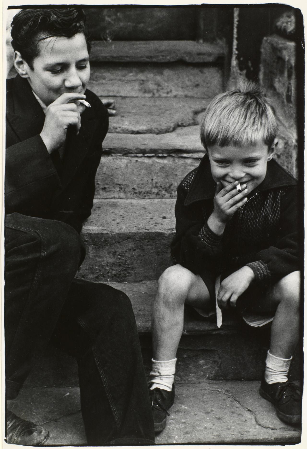 Young smokers, Southam Street, 1956 North Kensington