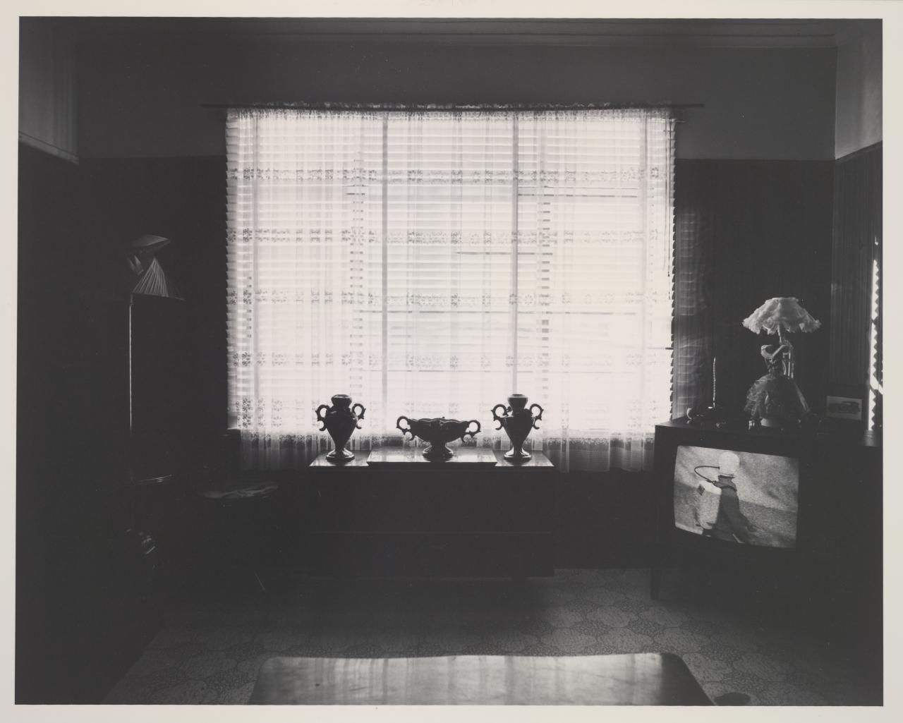 No title (Interior of house with television)