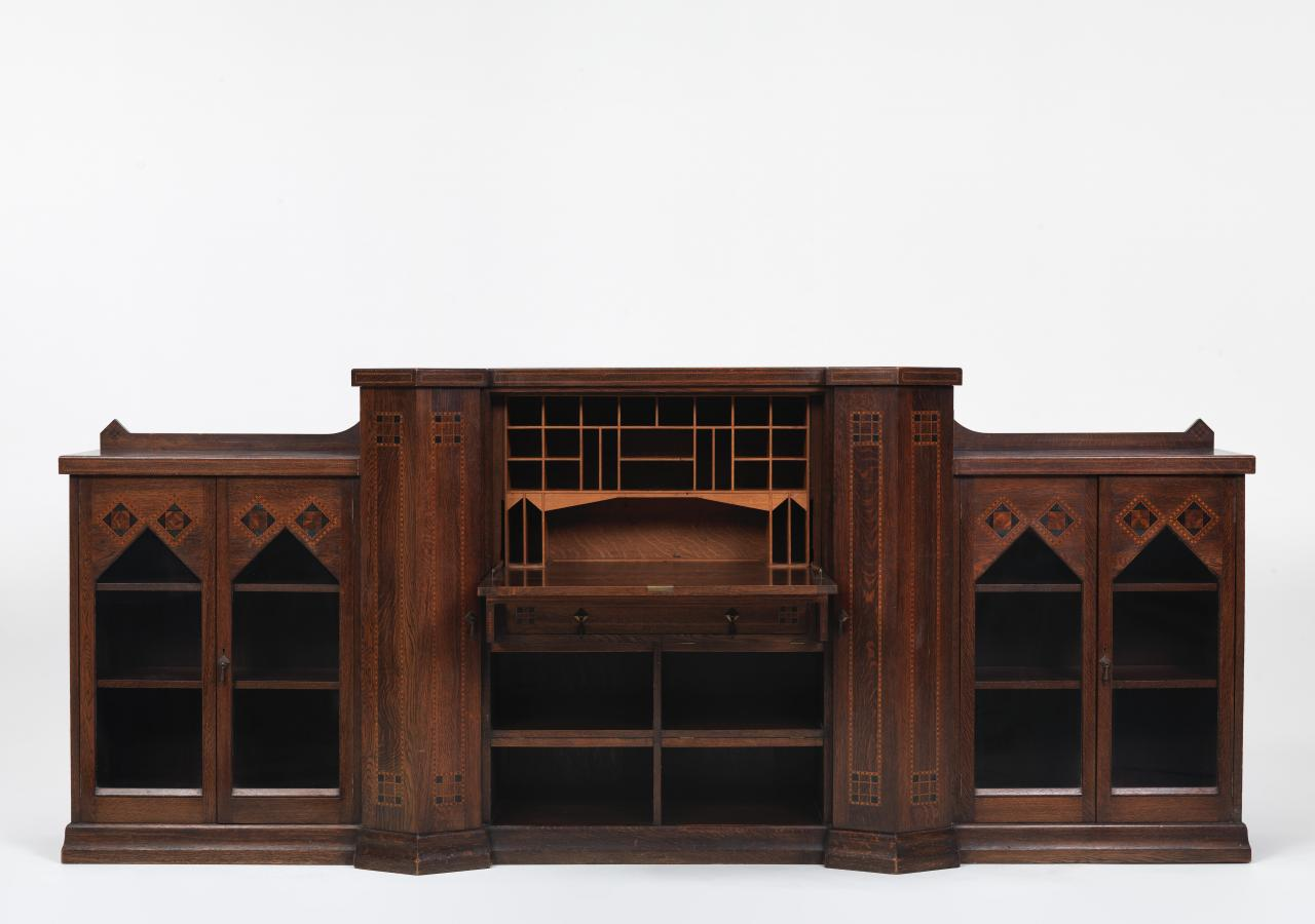 Writing bureau and cabinets, from the Australian library suite
