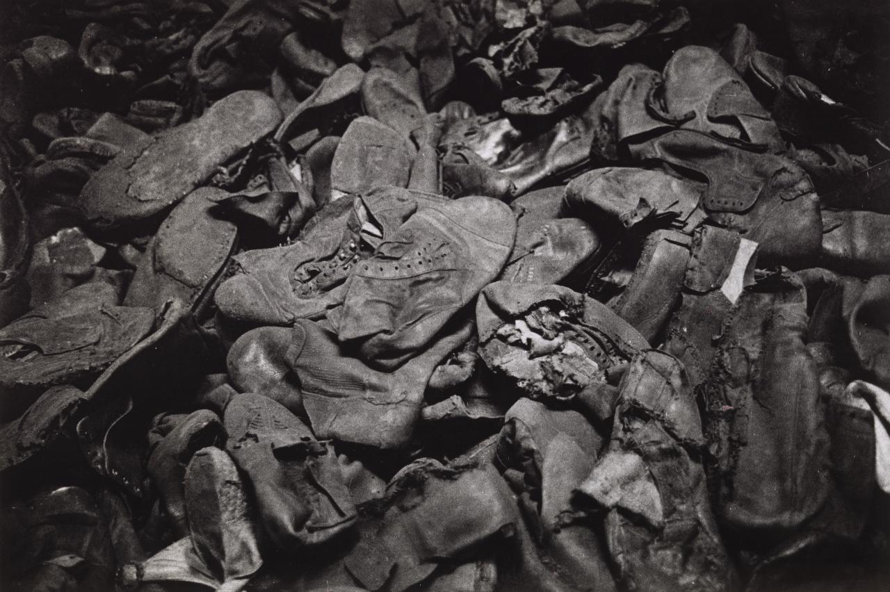 Remains of victims' shoes