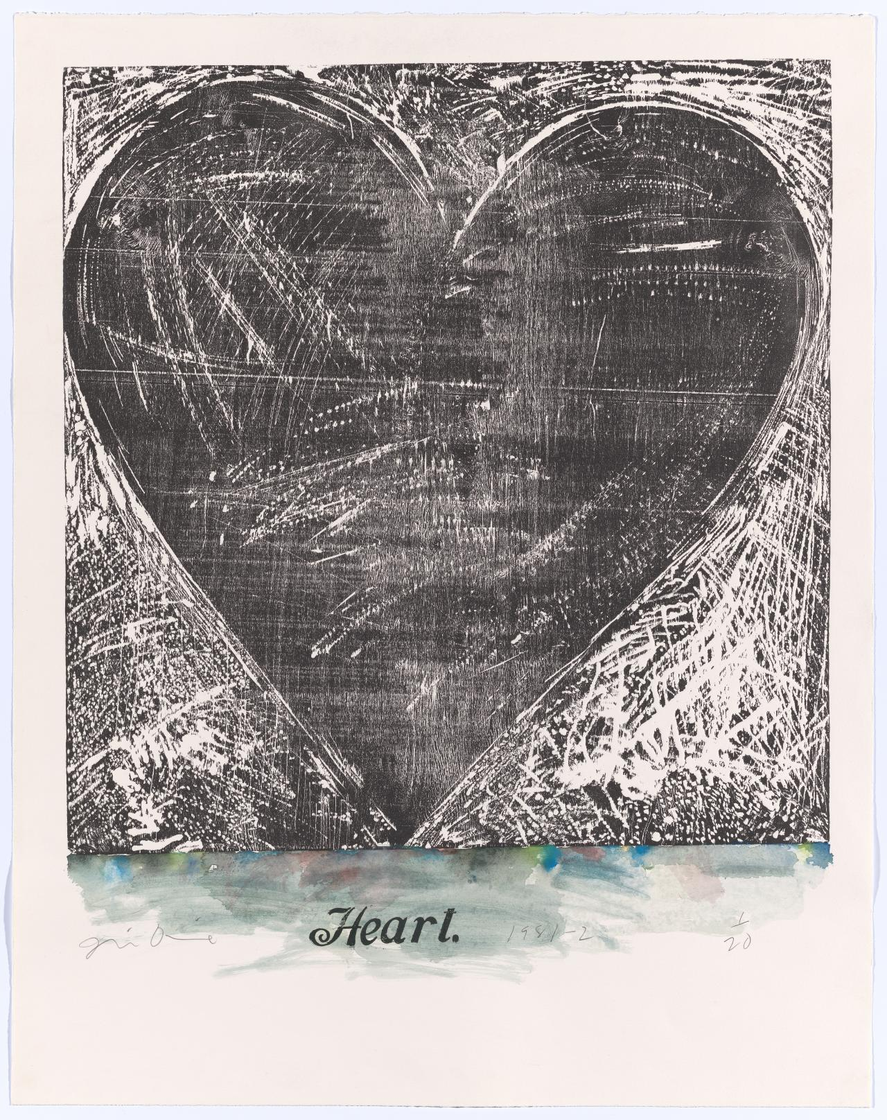 The Jerusalem woodcut heart