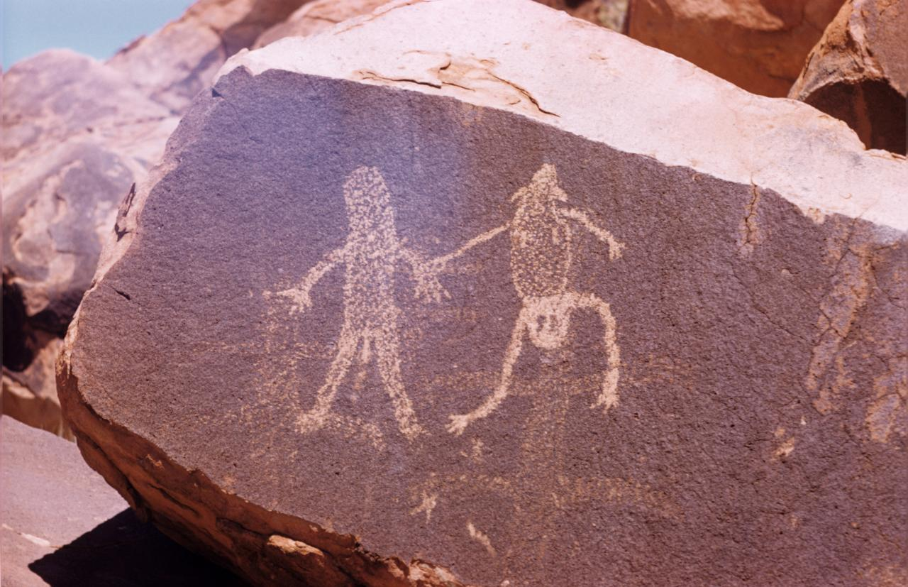 No title (Rock engravings at Gallery Hill, Aboriginal Rock Art, Gallery Hill, Western Australia, Friday, 17th October 1958)