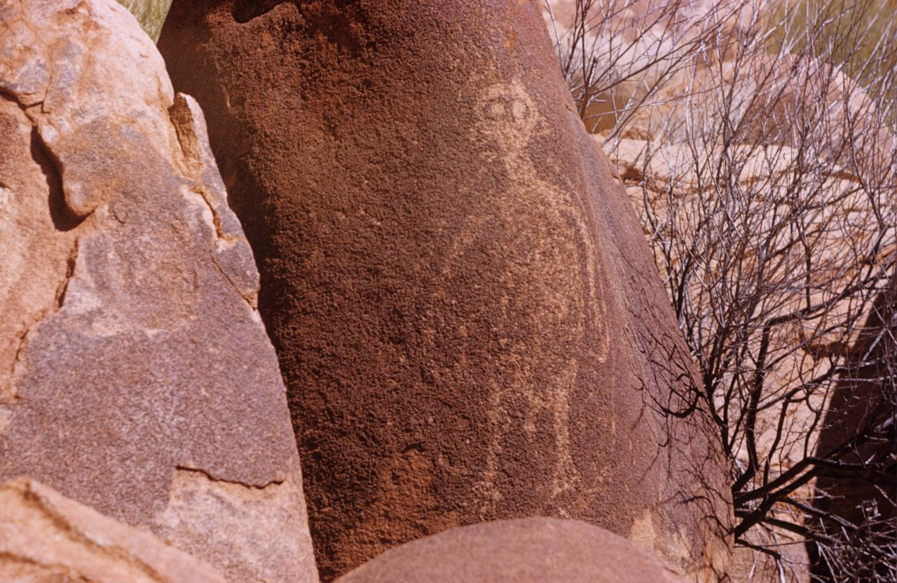 No title (Male figure, Aboriginal Rock Art, Gallery Hill, Western Australia, Friday 17th October 1958)