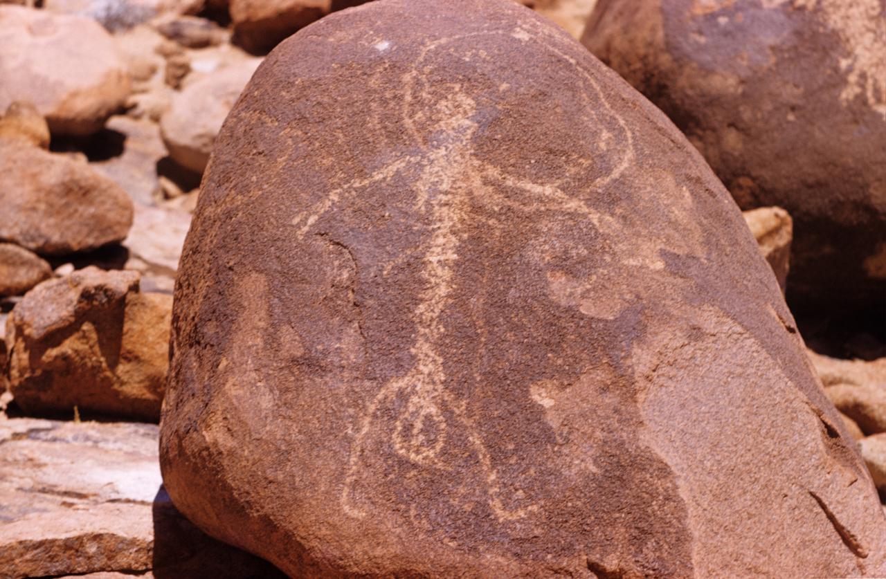 No title (Female figure, Aboriginal Rock Art, Gallery Hill, Western Australia, Friday 17th October 1958)