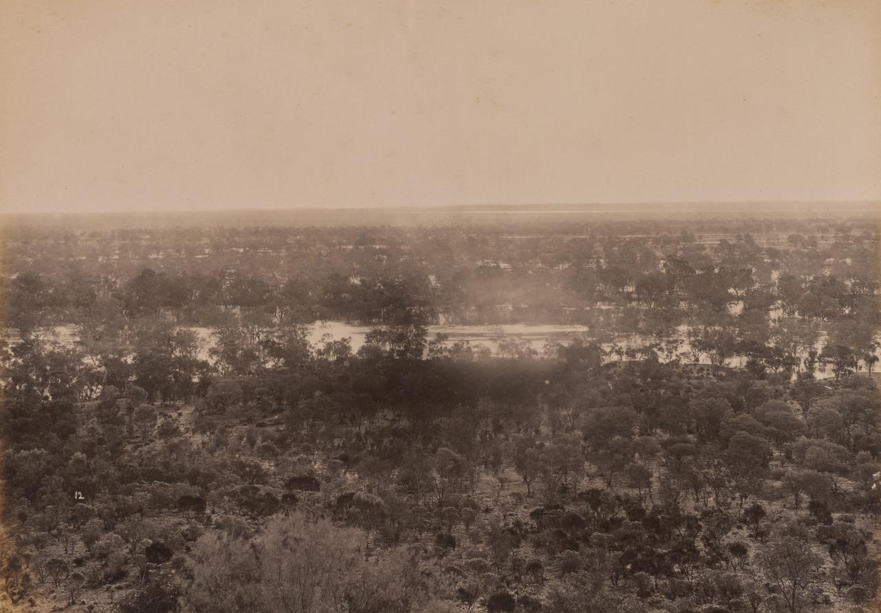 View from Dunlop Range, near Louth, Darling River looking west