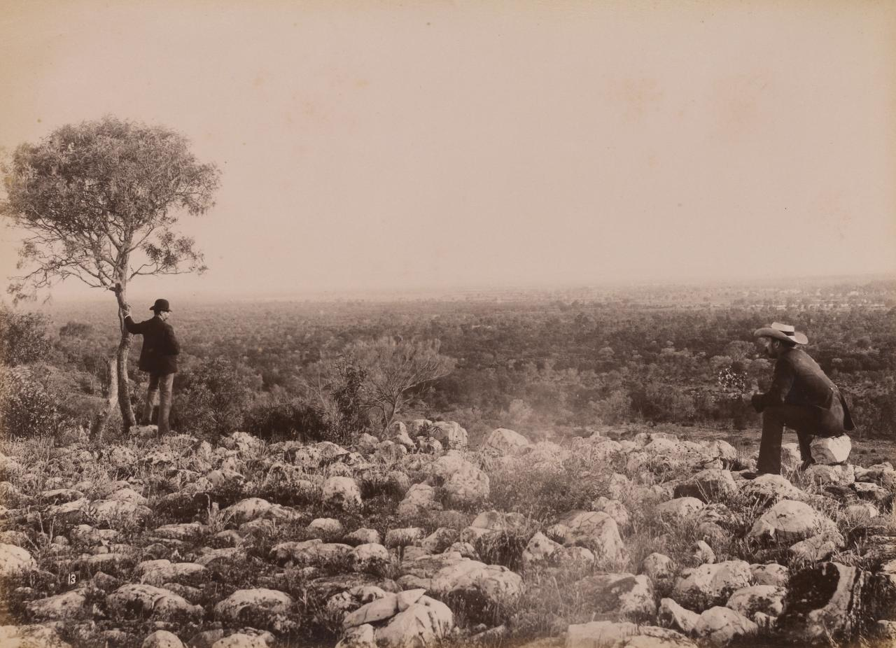 View from Dunlop Range, near Louth, Darling River looking south
