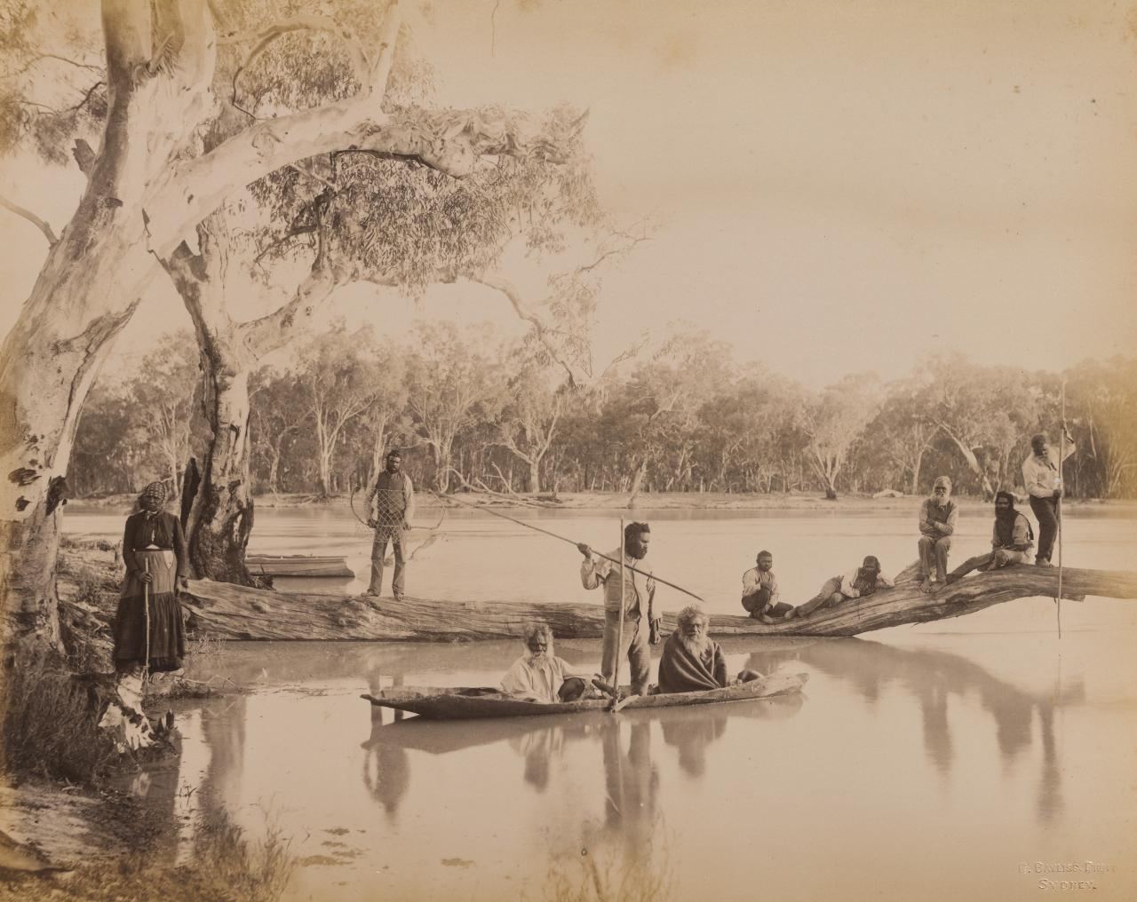 Group of Aborigines at Chowilla Station, Lower Murray, South Australia