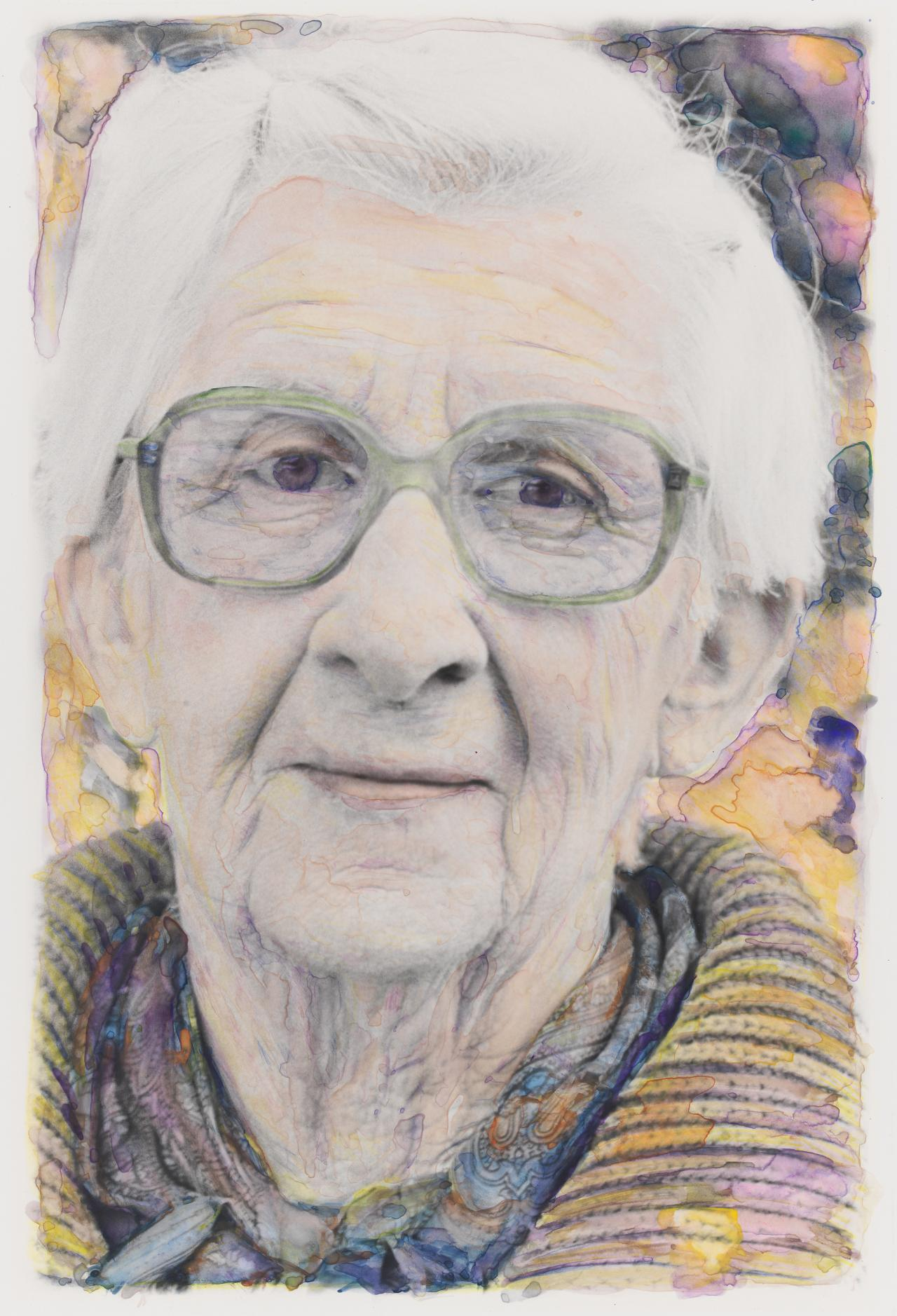 No title (Elderly woman in glasses)