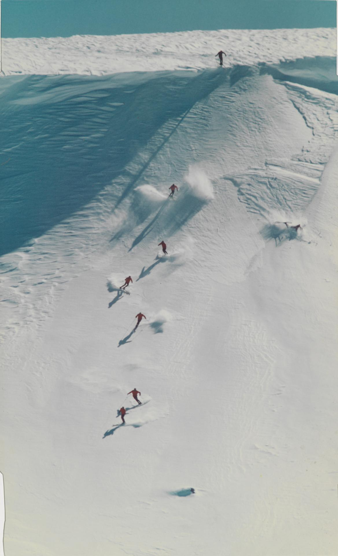 Skiers on Mt. Kosciosko