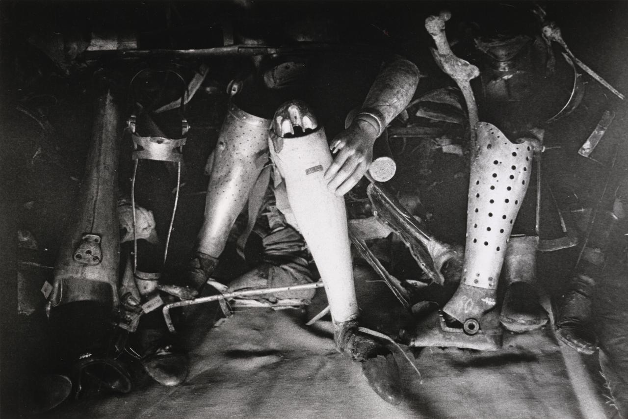 Crutches and artificial limbs of murdered invalids