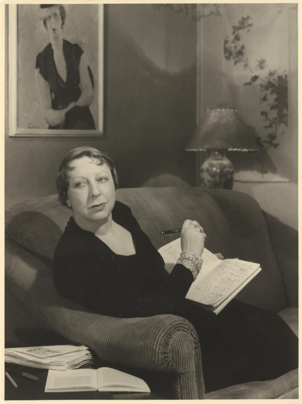 The writer Jean Campbell, in her flat in East Melbourne