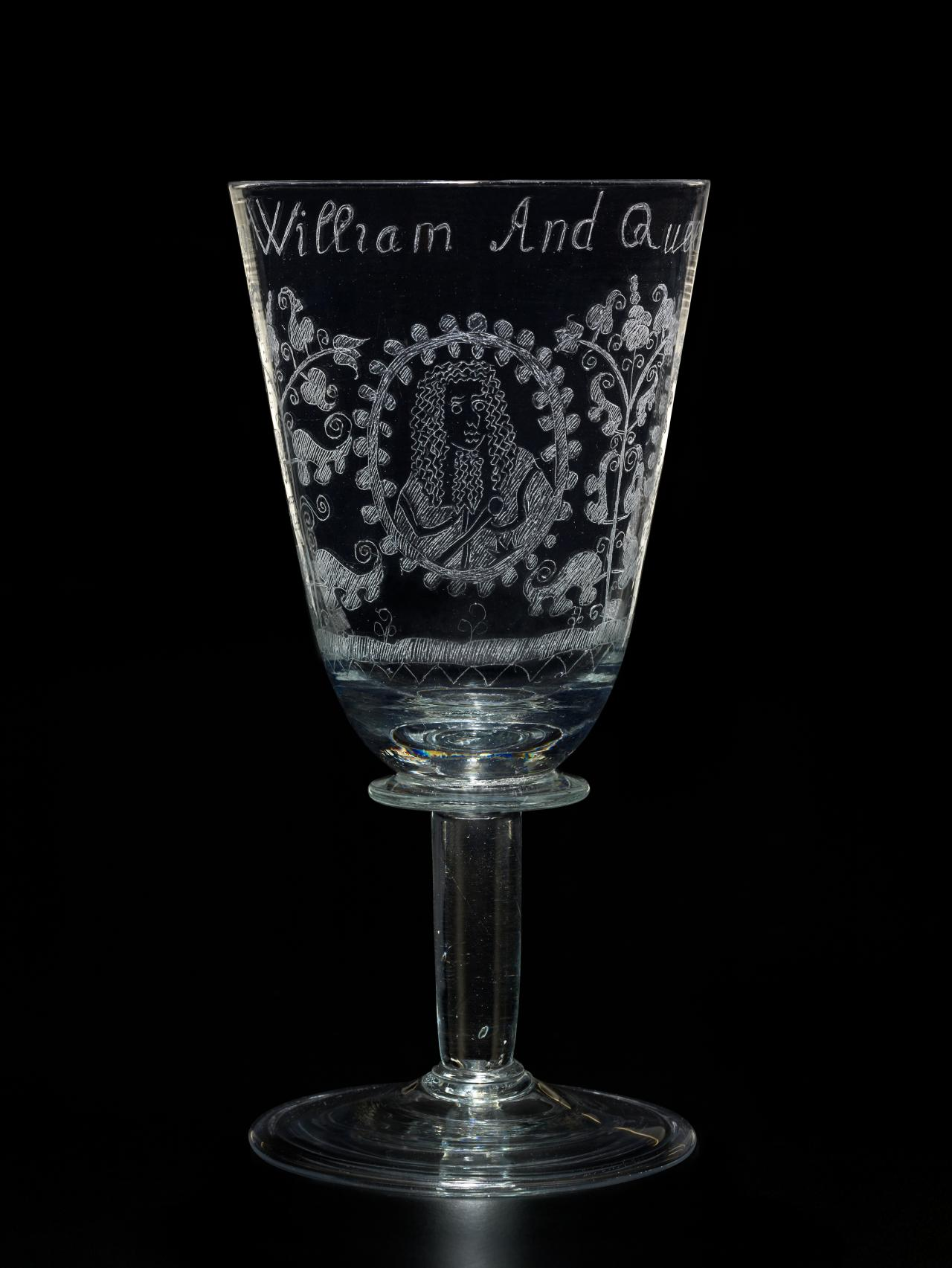 King William and Queen Mary coronation, goblet