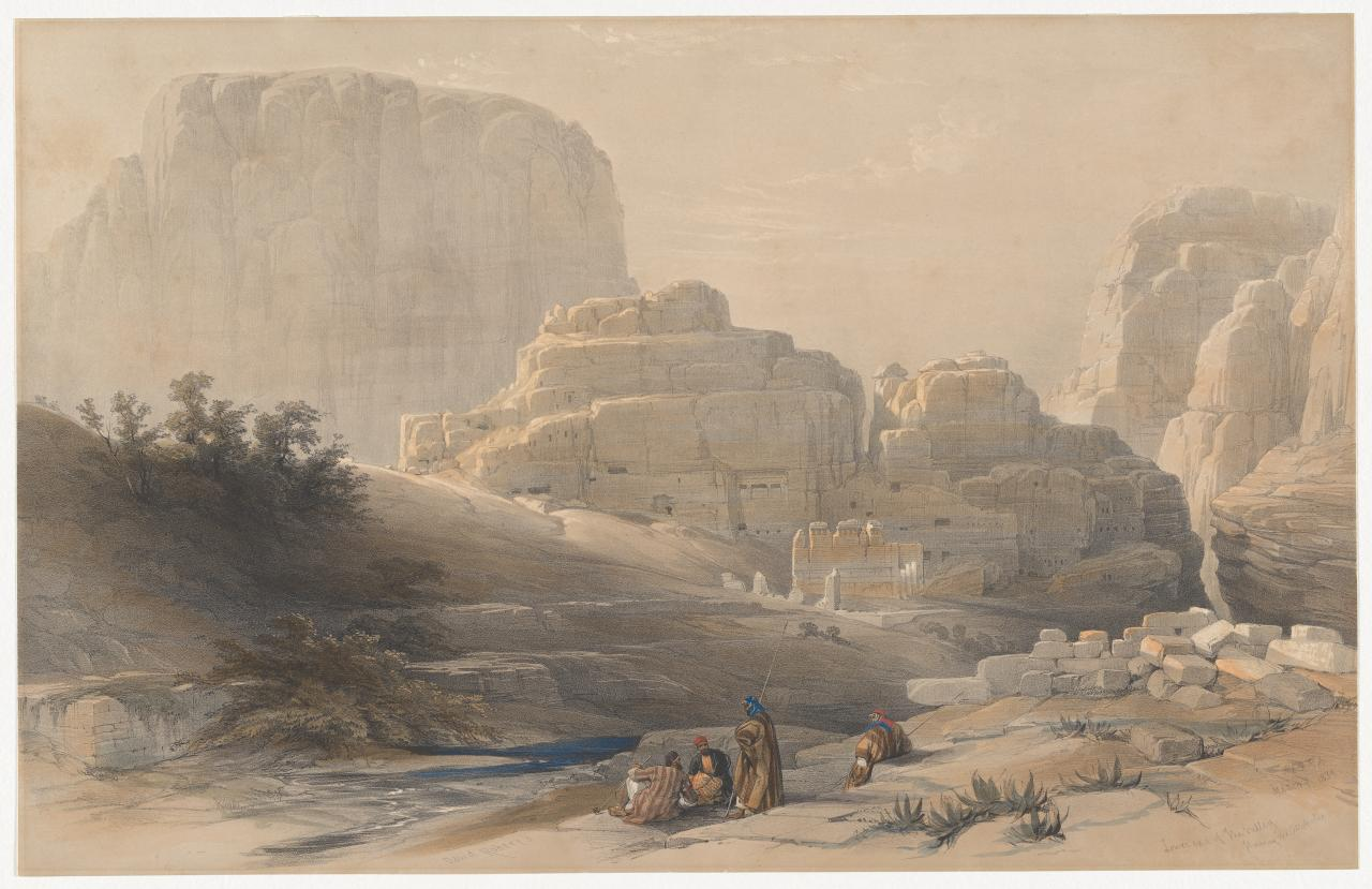Lower end of the valley showing the Acropolis, March 9 1839