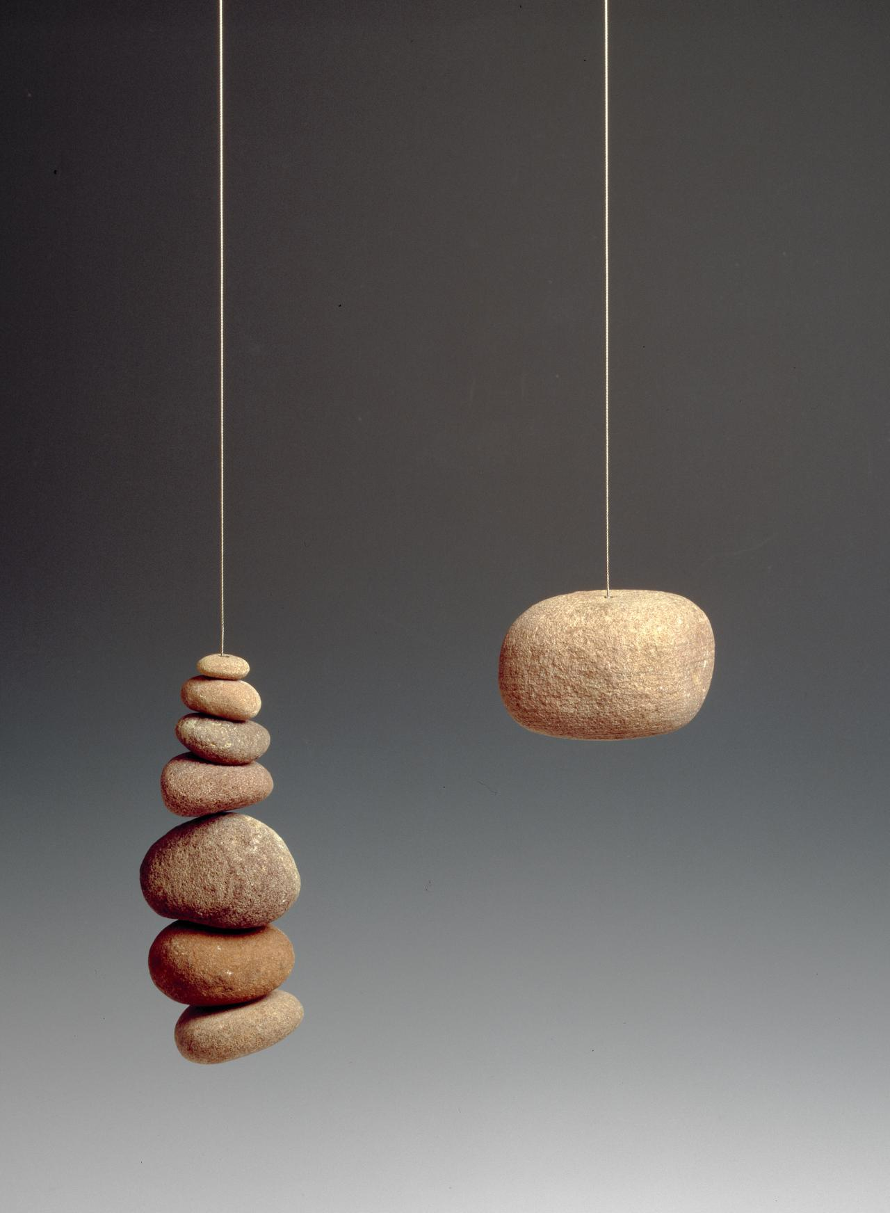 Eight stones with steel neckpiece