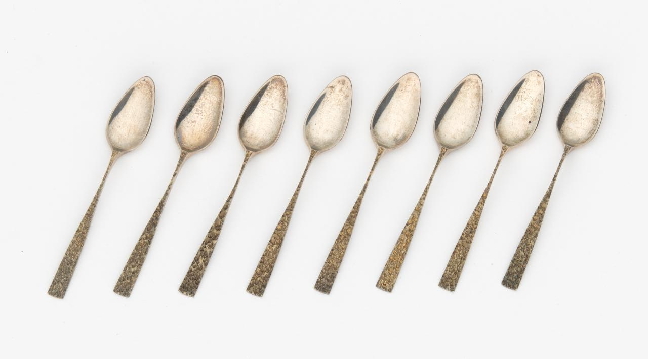 Eight Champagne coffee spoons