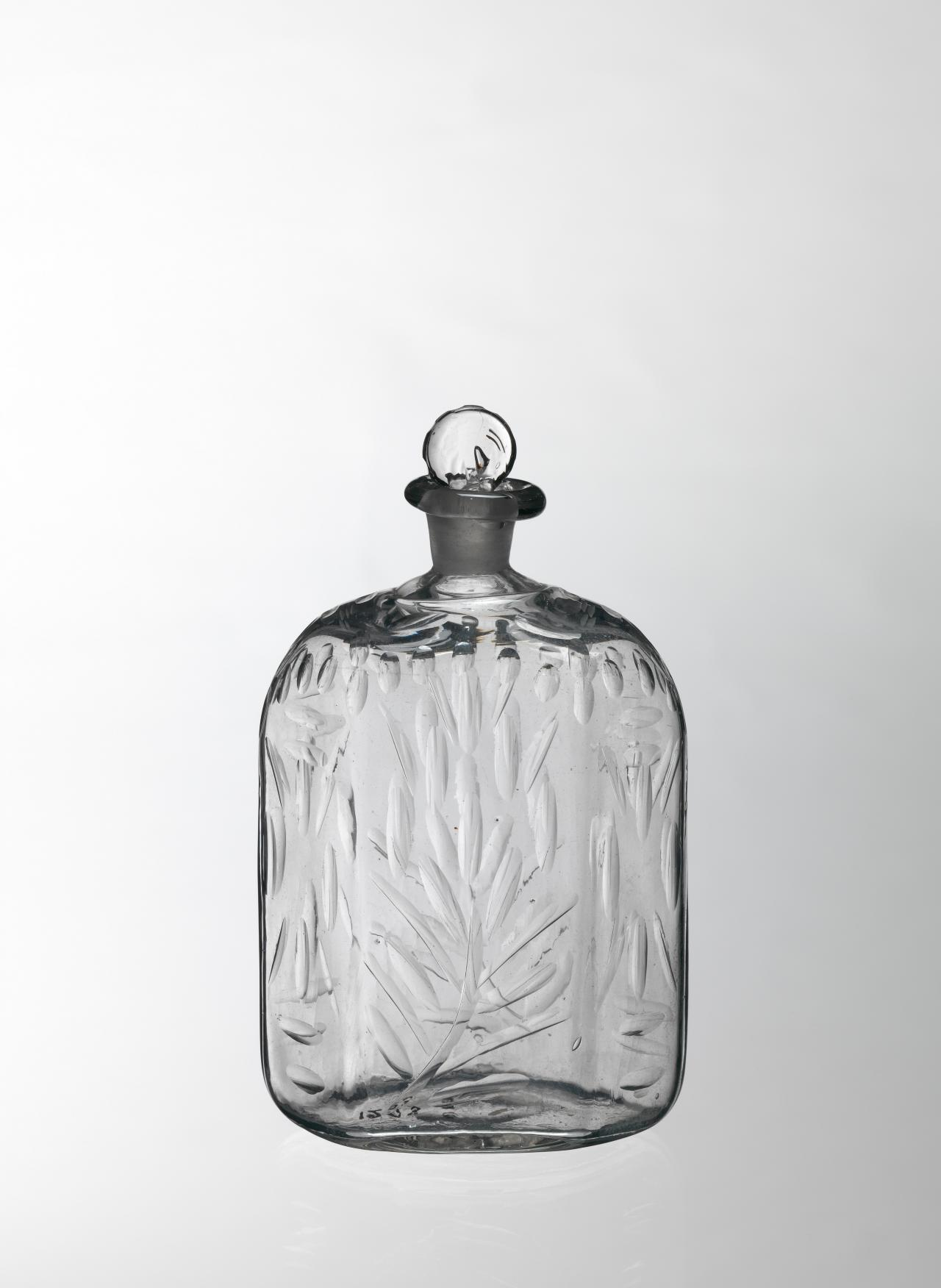 Flat hexagonal bottle