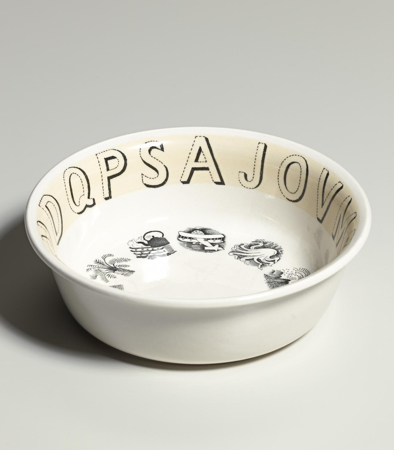 Alphabet pattern, bowl