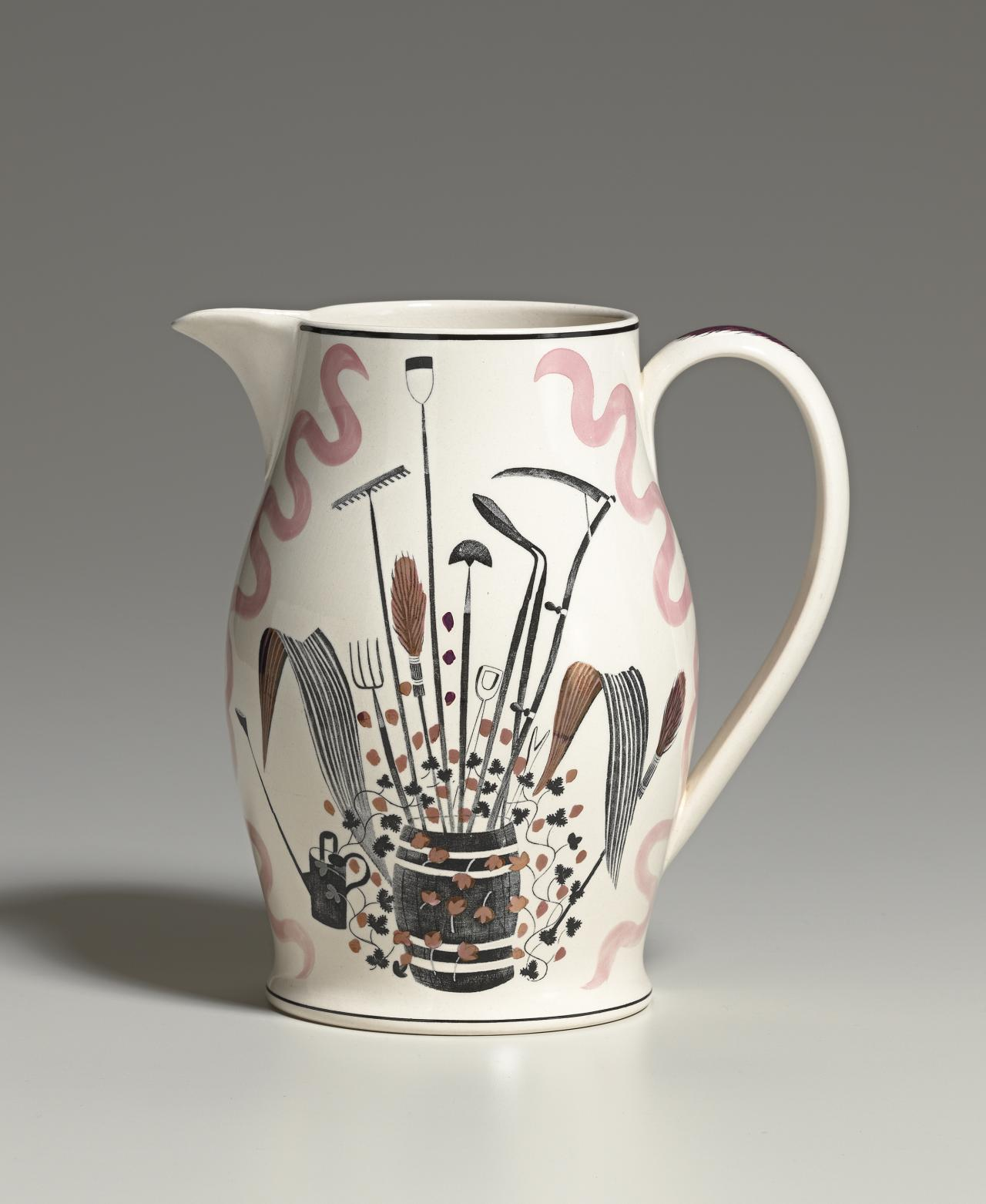 Garden implements pattern, Lemonade set, Liverpool jug