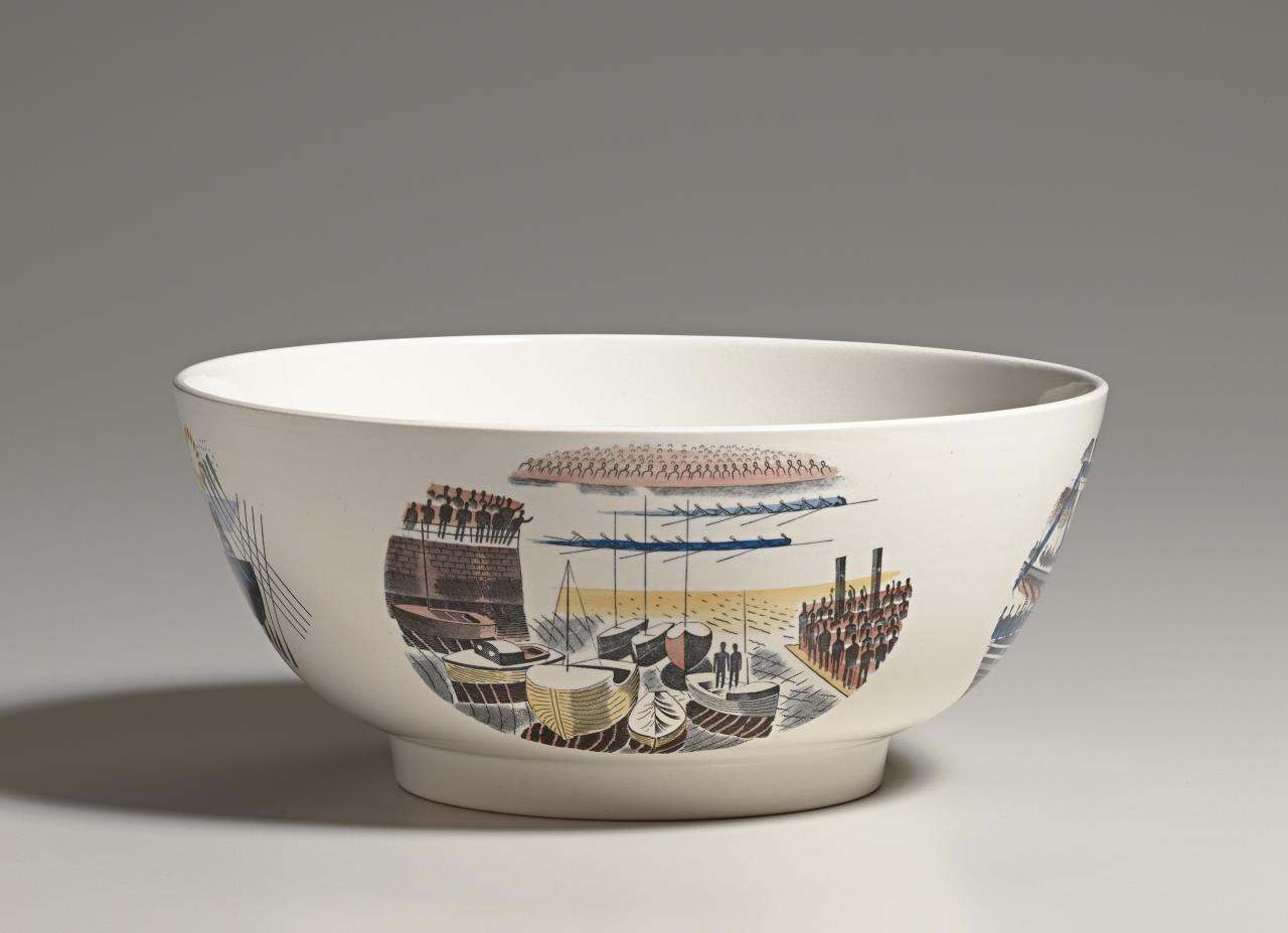 Boat race day pattern, bowl