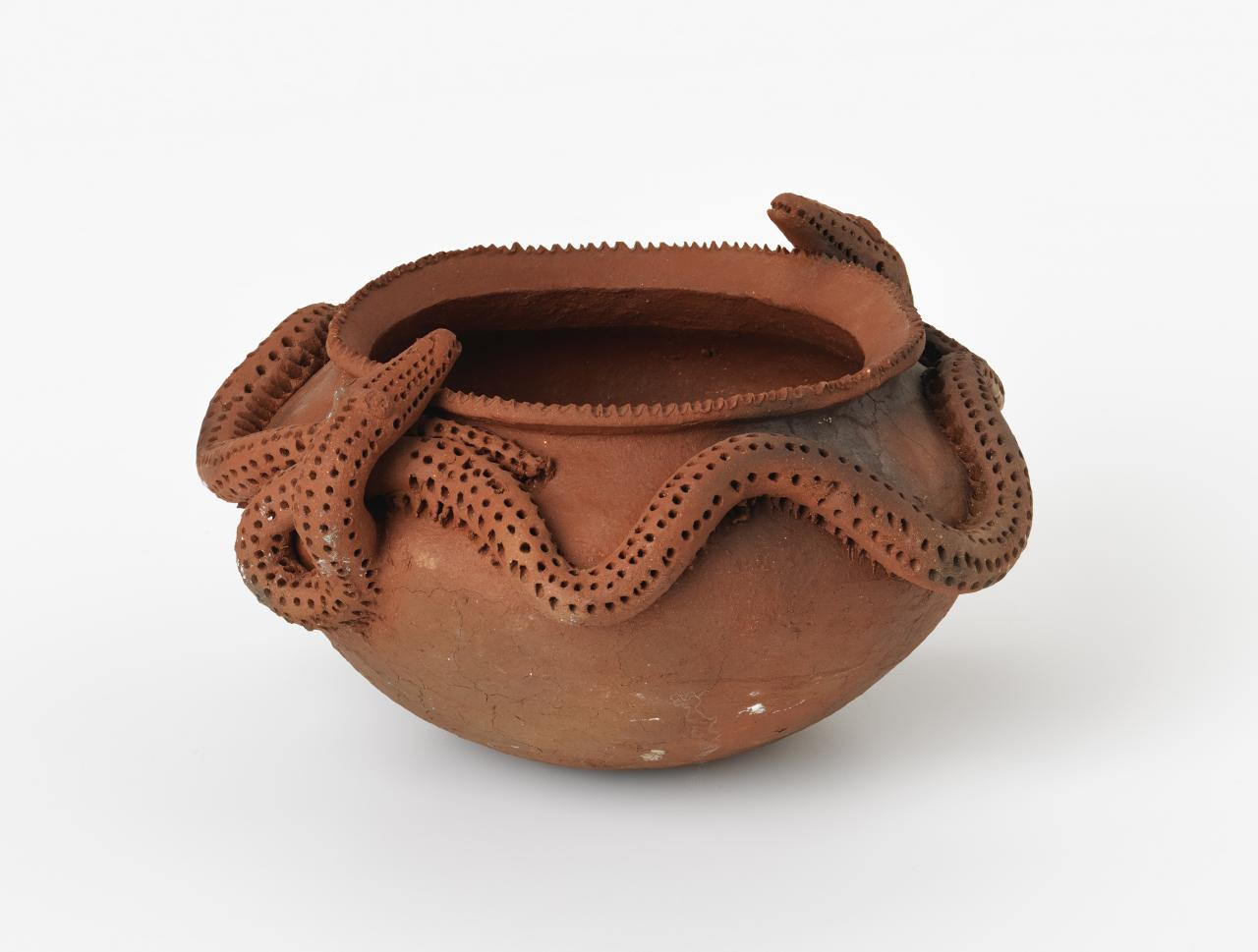 Bowl with snake decoration