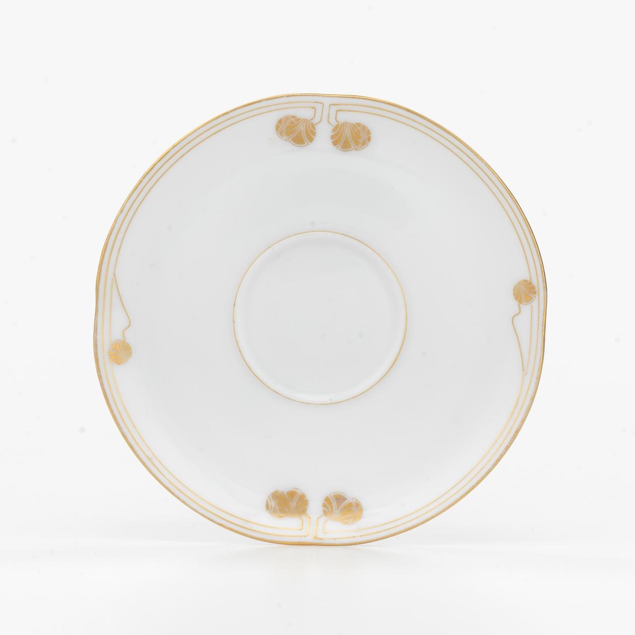 Modern, saucer for a mocha cup