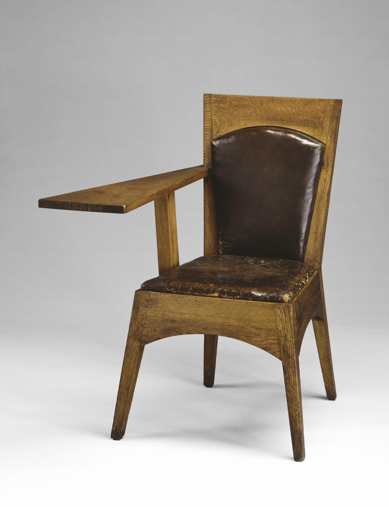 Suite of furniture from Newman College, University of Melbourne: lecture room armchair